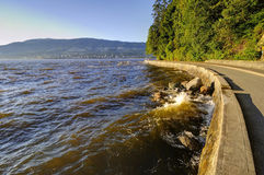Stanley Park seawall in Vancouver, Canada Stock Photo