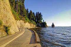 Stanley Park seawall in Vancouver, Canada Royalty Free Stock Photography