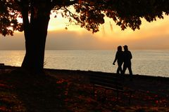 Stanley Park Seawall Walk, Vancouver Stock Photo
