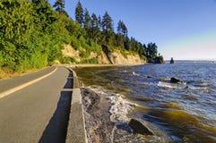 Stanley Park skyddsmur mot havet Arkivfoton