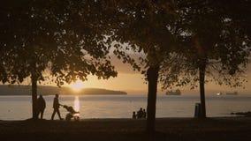 Stanley Park Sunset, Vancouver 4K UHD stock video
