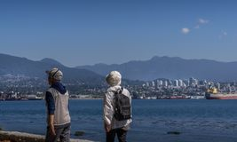 Stanley Park in Vancouver, BC stock images