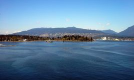 Stanley Park and Vancouver Harbour Royalty Free Stock Images