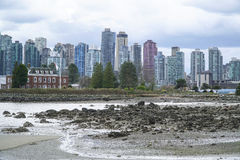 Stanley Park Vancouver with a view over the skyline - VANCOUVER - CANADA - APRIL 12, 2017 Stock Image