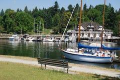 Stanley parkerar, och Vancouver strand Royaltyfria Bilder