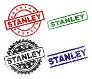 STANLEY Seal Stamps texturisé endommagé Illustration Stock