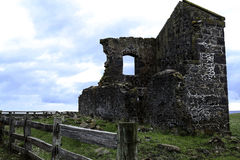 Stanley, Tasmania. Historic ruin on top of a hill from Stanley town centre. Tasmania Stock Photo