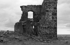 Stanley, Tasmania. Historic ruin on top of a hill from Stanley town centre. Tasmania Stock Image