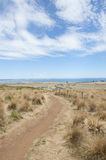 Stanley Tasmania lookout over Bass Strait ocean Stock Images
