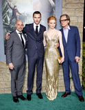 Stanley Tucci, Nicholas Hoult, Eleanor Tomlinson e Bill Nighy Fotos de Stock Royalty Free