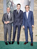 Stanley Tucci, Nicholas Hoult et Bill Nighy Images stock