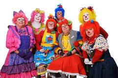 stanowić klaunów Zdjęcia Royalty Free