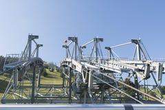Stanserhorn cable car pillar Royalty Free Stock Photos