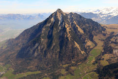 Stanserhorn mountain Switzerland Swiss Alps mountains aerial vie Royalty Free Stock Images