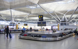 Stansted airport, luggage waiting area Royalty Free Stock Photo