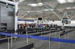 Stansted flygplats - Stansted uttryckliga London, F?renade kungariket 14 Juni 2018 arkivfoton