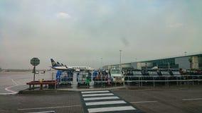 Stansted Luchthaven het Verenigd Koninkrijk stock foto's
