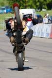Stantman Igor Pereversev on ATV ma Royalty Free Stock Photos