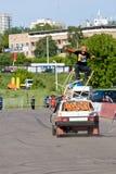 Stantman Vasiliy Sparov bildend Tri Stockfoto
