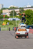Stantman Vasiliy Sparov rendant tri Photo stock