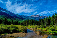Stanton Creek and Great Northern Mountain Stock Image