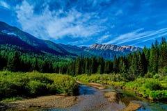 Stanton Creek und großer Nordberg Stockbild