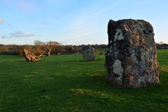 Stanton Drew stone circles (stonehenge). Stanton Drew stone circles in the English county of Somerset Stock Photography
