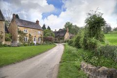 Stanton, England. The pretty village of Stanton in Springtime, Cotswolds, Gloucestershire, England Royalty Free Stock Photos