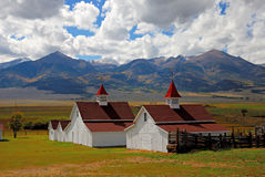Stanton Farm. In Colorado and the Sangre De Cristi Mountains Royalty Free Stock Images