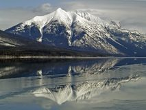 Stanton Mountain Reflection. This picture of Stanton Mountain with the reflection in Lake McDonald was taken in Glacier National Park Royalty Free Stock Photography