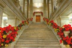 Stanu Capitol przy bożymi narodzeniami Fotografia Royalty Free