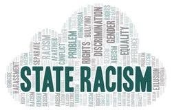 Stanu rasizm formułuje chmurę - typ dyskryminacja - ilustracja wektor