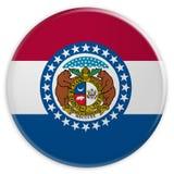 stanu USA guzik: Missouri Zaznacza odznaki 3d ilustrację na białym tle ilustracji