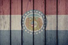 stanu USA Missouri Chorągwiany Drewniany ogrodzenie zdjęcia royalty free