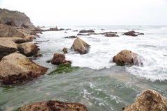 Stanwell公园海滩,澳大利亚 免版税库存图片