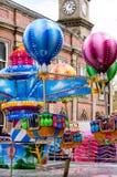 Stanworths-Funfair Peppa-Schwein-Ballon-Fahrt stockfotografie