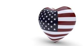 Stany Zjednoczone łączy pojęcie miłości tło, 3d rendering Zdjęcia Royalty Free