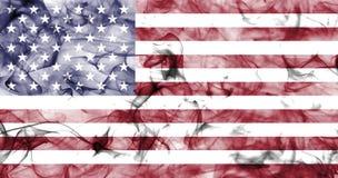Stany Zjednoczone Ameryka dymu flaga, USA dymu flaga Zdjęcia Royalty Free