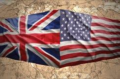Stany Zjednoczone Ameryka i Zjednoczone Królestwo Fotografia Stock