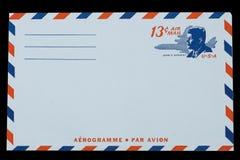 STANY ZJEDNOCZONE AMERYKA - OKOŁO 1968: Stara koperta dla Lotniczej poczta z portretem John F kennedy Obraz Royalty Free