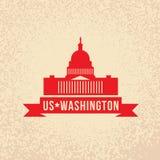 Stany Zjednoczone Capitol - symbol USA, washington dc royalty ilustracja