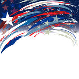 Stany Zjednoczone chodnikowa patriotyczny projekt z gwiazdami i lampasami dla dnia pamięci ilustracja wektor