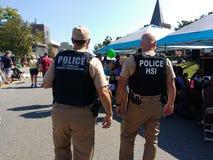 Stany Zjednoczone departamentu bezpieczeństwa krajowego oficery, Rutherford, NJ, usa obraz royalty free