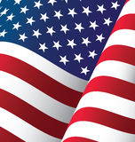 Stany Zjednoczone falowania flaga tło ilustracji