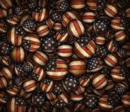 Stany Zjednoczone flaga piłek wzór Zdjęcie Stock