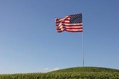 Stany Zjednoczone flaga wszystkie samotny wierzchołek wzgórze Fotografia Stock