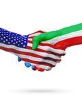 Stany Zjednoczone, gwinea równikowa zaznacza pojęcie współpracę, biznes, sport rywalizacja ilustracji