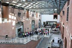 Stany Zjednoczone holokausta muzeum Pamiątkowy lobby obrazy stock