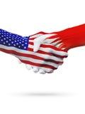 Stany Zjednoczone i Bahrajn flaga pojęcia współpraca, biznes, sport rywalizacja ilustracji