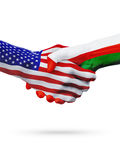 Stany Zjednoczone i Oman flaga pojęcia współpraca, biznes, sport rywalizacja ilustracja wektor